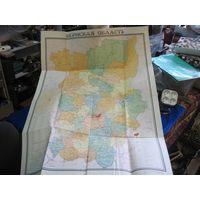 Карта Пермская область 1:700 000, 1966 г.