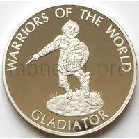 Конго 10 франков 2009 года. Гладиатор (Proof)