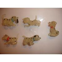 Киндер собачки Долматинцы (светятся в темноте) набор 5 шт