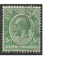 Кения и Уганда. Король Георг V. 1925г. Mi#22.