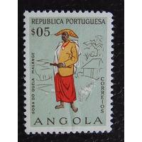 Португальская колония Ангола 1957г. Национальный костюм.