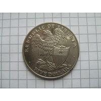 Либерия 5 долларов 2001г.