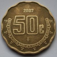 Мексика, 50 сентаво 2007 г