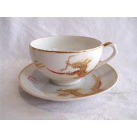 Чайная Кофейная пара Гейша Золотой дракон Япония