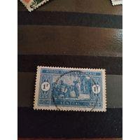 1922 французская колония Сенегал архитектура торговля без дыр читаемое гашение (4-15)