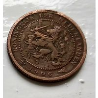 Нидерланды 1/2 цента, 1906 1-11-30
