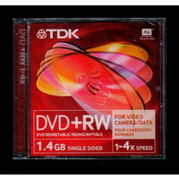 TDK DVD+RW 1,4Gb, 1-4x speed