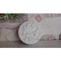 Винтажная мраморная пудреница(шкатулка)
