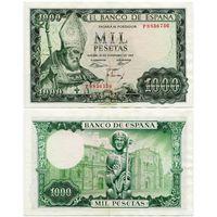 Испания. 1000 песет (образца 1965 года, P151, XF)