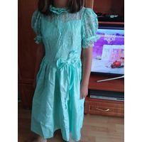 Платье нарядное бирюза Стильное на 9-10 лет