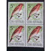 Чехия 1994. Охрана Природы - Певчие Птицы. Квартблок