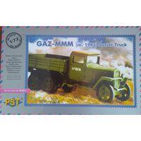Советский грузовой автомобиль ГАЗ-МММ обр.1943г. 1:72 ПСТ