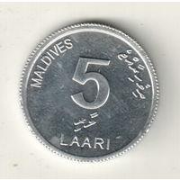Мальдивы 5 лари 2012