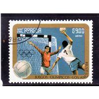 Никарагуа. Ми-2528. Спорт.Гандбол.Олимпийские игры. Лос-Анджелес-84.