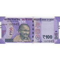 Индия 100 рупий 2018 (UNC)