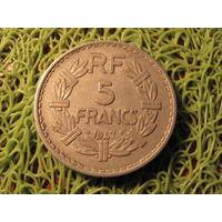 5 франков франция 1947 *702