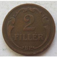 Венгрия 2 филлера 1927