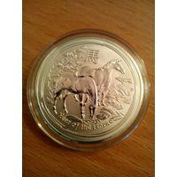 Сувенирная монета год лошади 2014 год.