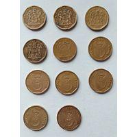 Лот монет ЮАР 20 центов