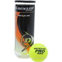 Мячи для большого тенниса Dunlop Pro Team c покрытием из высококачественного фетра разработаны для игроков любого уровня и подходит для игры на всех видах покрытия. Ядро Dunlop HD увеличивает износост