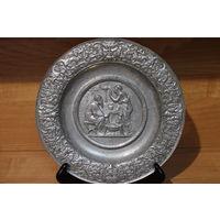 Тарелка панно металл