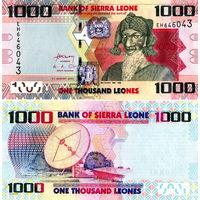 Сьерра-Леоне 1000 леоне 2016 год  UNC