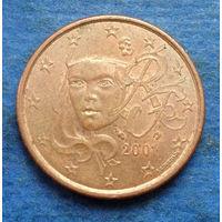 Франция 5 евроцентов 2001