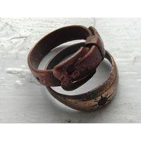 Два старинных медных кольца(женских).19 век.