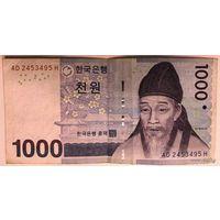 Южная Корея 1000 вон (образца 2007 года)