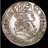 Австрия Венгрия 15 крейцеров 1681 Леопольд грибастик.