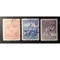 ЭКВАДОР \1642\  1939  АВИАПОЧТА СПОРТ БОЛИВАРИАНСКАЯ ОЛИМПИАДА