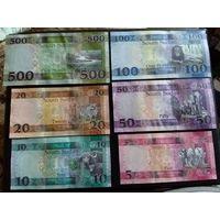 Южный Судан комплект банкнот 6 шт. состояние UNC