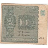 Финляндия 1945 год 100 марок VF Lit A серия E Не частая!