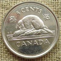5 центов 2002 Канада - 50 лет правления королевы