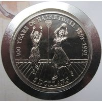 Ниуэ, 5 долларов, 1991, монета-письмо