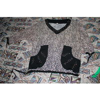 Леопардовая блузка. Размер 58. Прудок.