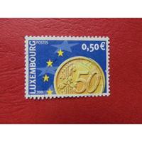 Люксембург 2001г. Евро