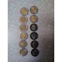 Памятные и юбилейные монеты 2 евро, только обмен