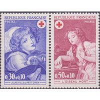 Франция 1971 Живопись Дети Ренуар Красный Крест ** (МАЙ