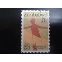 Зимбабве 1981 инвалид с ампутированной ногой