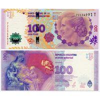 Аргентина. 100 песо (образца 2012 года, P358b, UNC)
