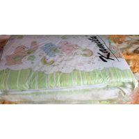 Бортики в кроватку нежно зеленого цвета Мишки 60-40см, б.у