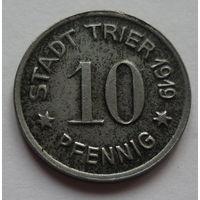 Германия. 10 пфеннигов 1919г.TRIER.