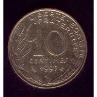 10 сантимов 1997 год Франция