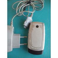 Мобильный телефон Samsung x510 рабочий +зарядное