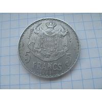 Монако 5 франков 1945г.km122