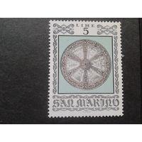 Сан-Марино 1974 рыцарский щит