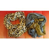 Легкий леопардовый шарф.СРОЧНО.ПЕРЕЕЗД