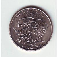 США. 25 центов 2000 г. Южная Каролина