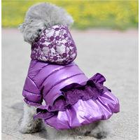 Гламурная куртка для собак на синтепоне.